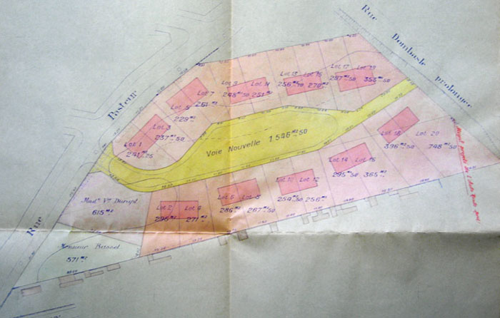 Plan du square - Archives de Noisy-le-Sec